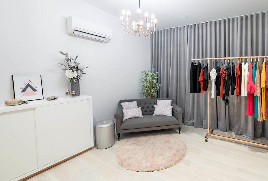Gasparina Castellón. proyecto Retail Estudio Huuun de Valencia Miguel Lozano de la Mota. Diseño e iluminacion de probadores