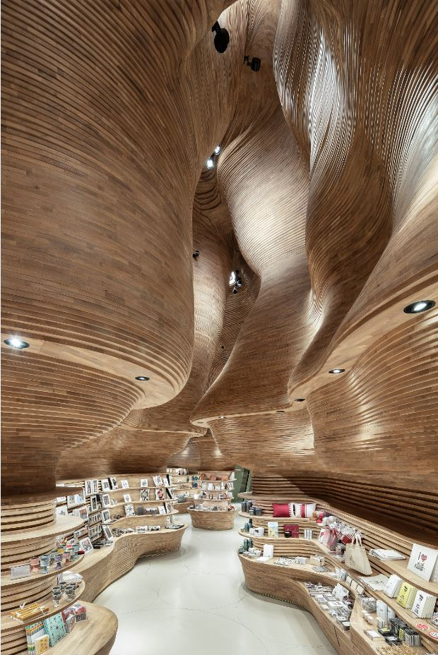 Gift Shops of National Museum of Qatar by Koichi Takada Architects Photo credit: Tom Ferguson, Oscar Rialubin and Koichi Takada Architects