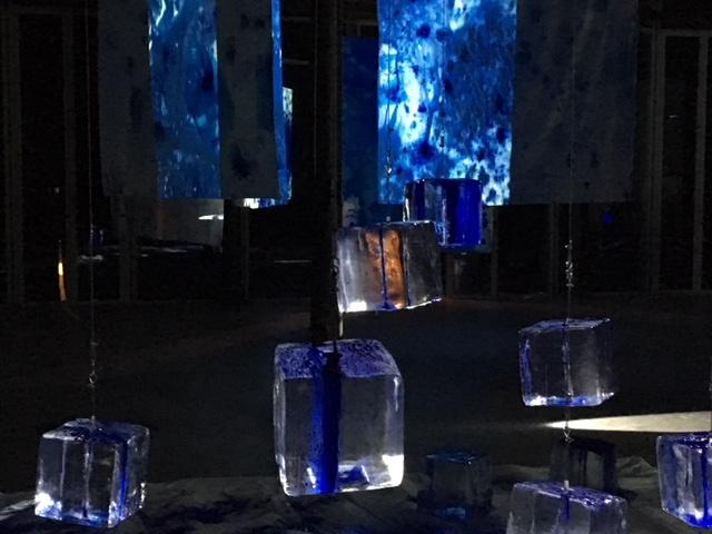 Exposición EXTENDED BLU. La Pelanda. Macro Testaccio 2017
