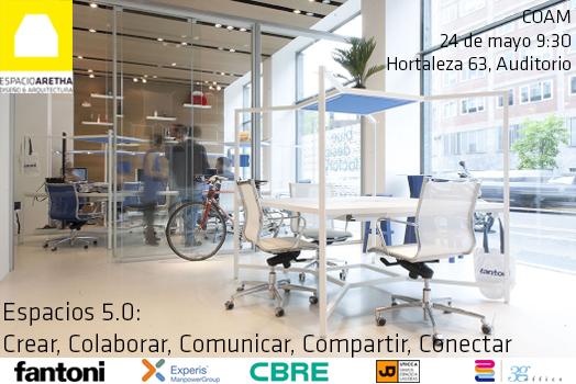 espacios 5.0 josrnada workspace COAM espacio aretha y Fantoni insonorización Como serán las oficinas del futuro ?