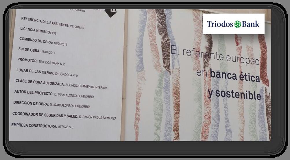 Triodos Bank Malaga diseño ecoeficiente . Premio Nacional Green Solutions  Awards 2017 . Construction21 International