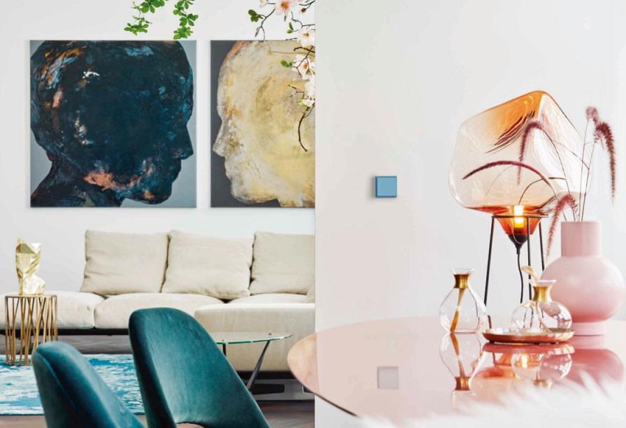 JUNG Y LE CORBUSIER . Mecanismos LS 990 Jung colores Le Corbusier