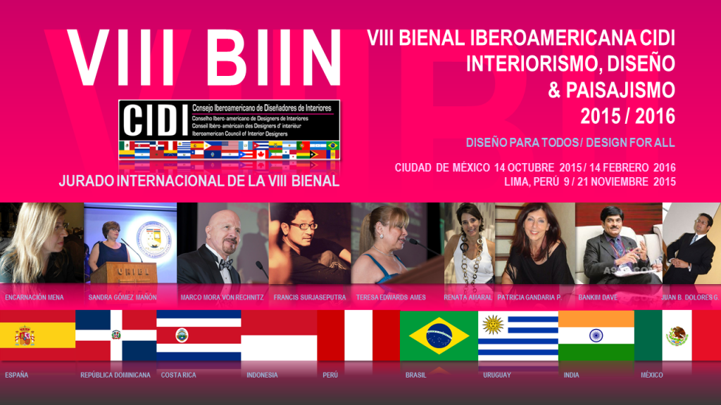 JURADO premios cidi bienal interiorismo, diseño y paisajismo.