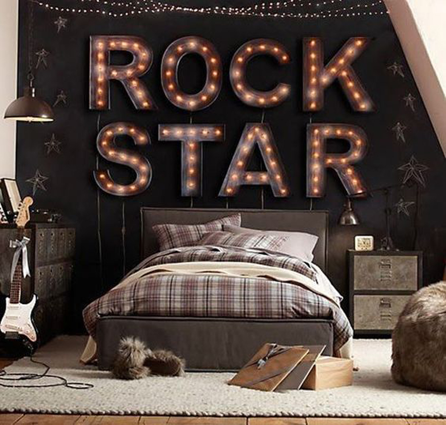 Kids-Bedroom-Accessories-Cool-Lighting-Ideas-For-Boys-Room- Dormitorios juveniles con estilo