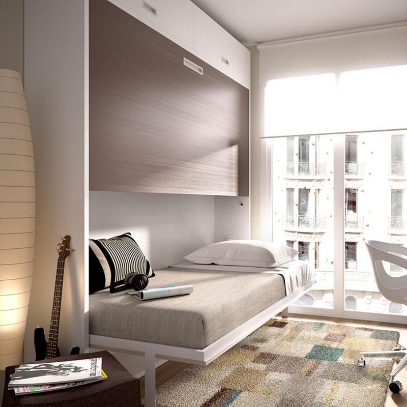 Litera abatible para cuarto juvenil abierta Size. Muebles menamobel