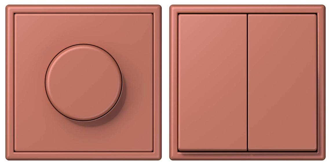 Mecanismos LS 990 Le Corbusier tonalidad Terre Siene Brique (Jung) 3