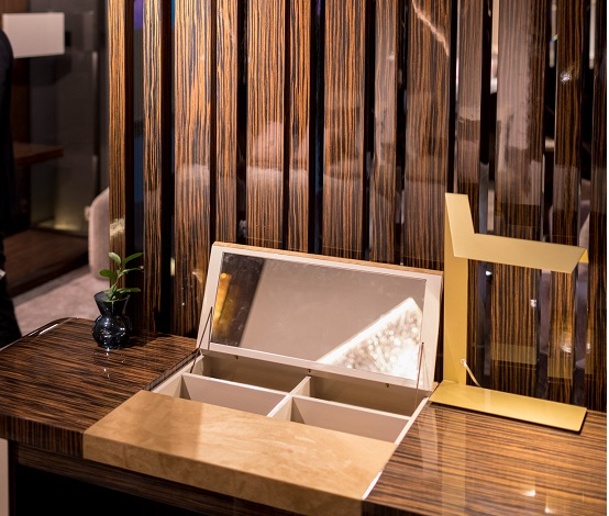Monrabal Chirivella. Colección diseño hotel Aneta Mijatovic Feria habitat. Foto Jorge g. Romeu. Detalle tocador