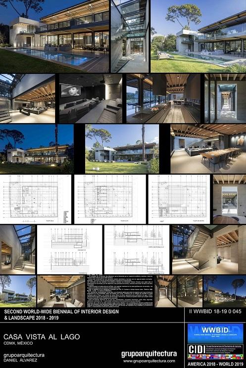 Premios-CIDI-Bienal-de-Arquitectura-2018-GRUPO-ARQUITECTURA-CASA-VISTA-AL-LAGO. Bienal Iberoamericana Cidi de interiorismo, diseño y paisajismo WWBID 2018 interior design and landscape