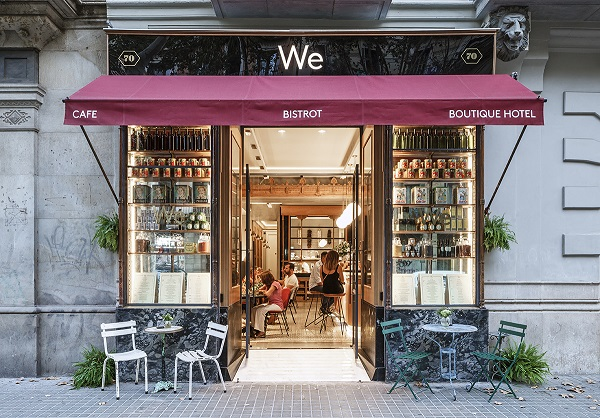 RESTAURANTE we bistrot barcelona fachada en el We Boutique Hotel