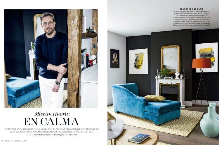 Revista Nuevo Estilo. En casa de Maxim Huerta. Estilismo Cristina Rodriguez Goitia Estilista de interiores