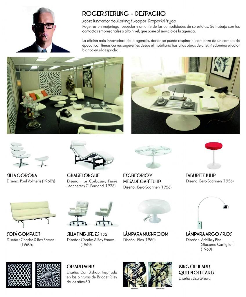 Roger Sterling muebles oficina