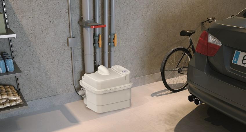 sanicubic 1 de Sanitrit. Un baño donde quieras con triturador sanitario