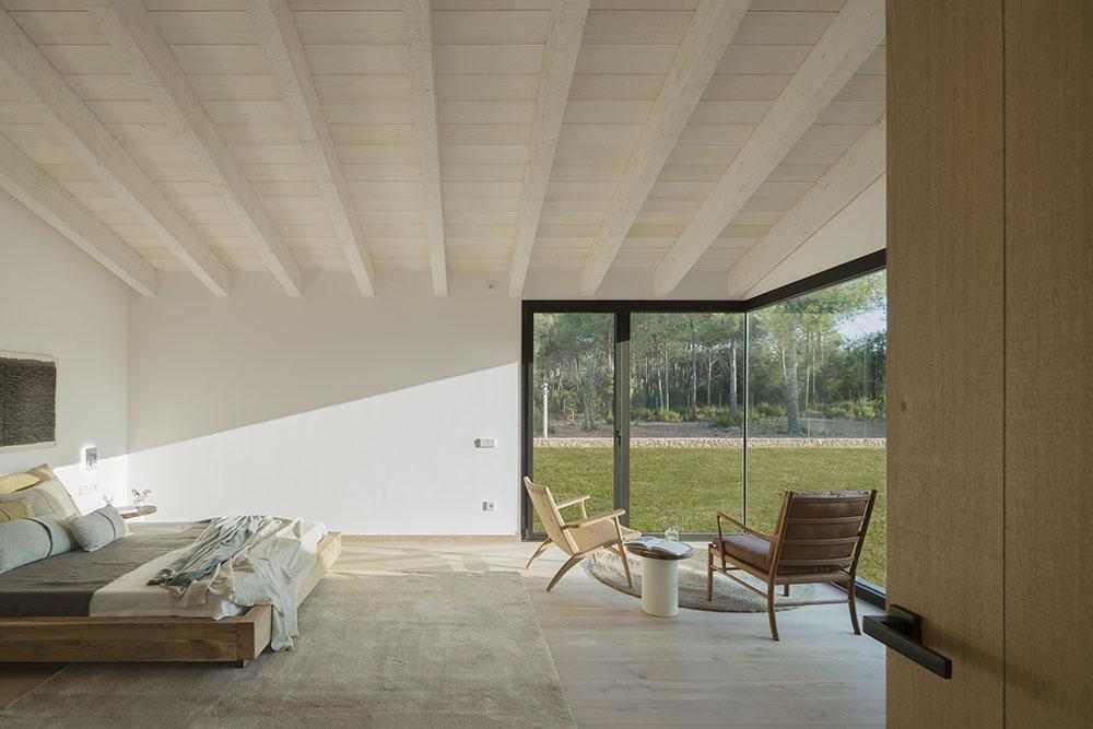 Concepto diseño Slow decoracion. SUSANNA COTS OXYGEN SLOW DESIGN . Diseño Suite principal. Cmama madera maciza Dareels