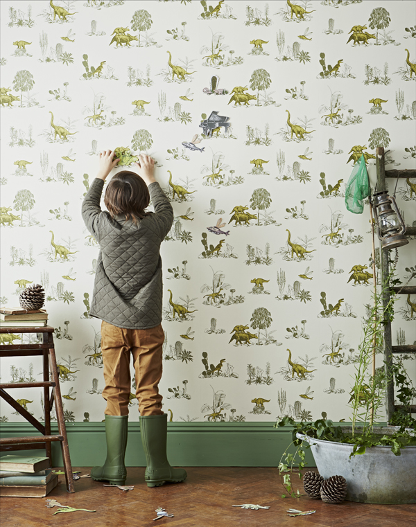 Sian-Zeng_Dino-Magnetic-Wallpaper_Yellow_Green_Fun_Homeware_Dinosaur_Wallpaper
