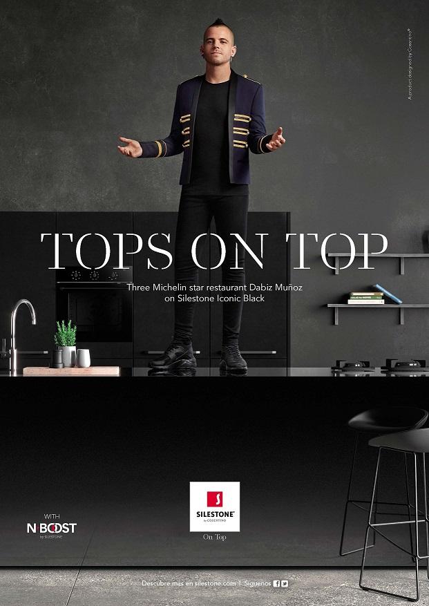 Silestone Tops On Top - Dabiz Munnoz 3 estrellas Michelin. Cocinas en isla