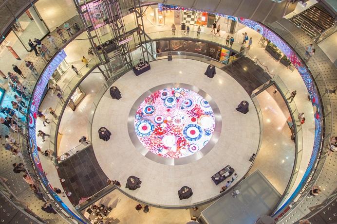 TRISON Proyecto MOSAIC C C Arenas de Barcelona. La pantalla interactiva más grande de España.Pista central