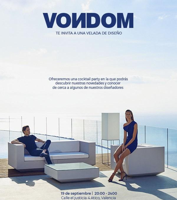 VELADA DISEÑO VONDOM FERIA HABITAT 2018 VALENCIA
