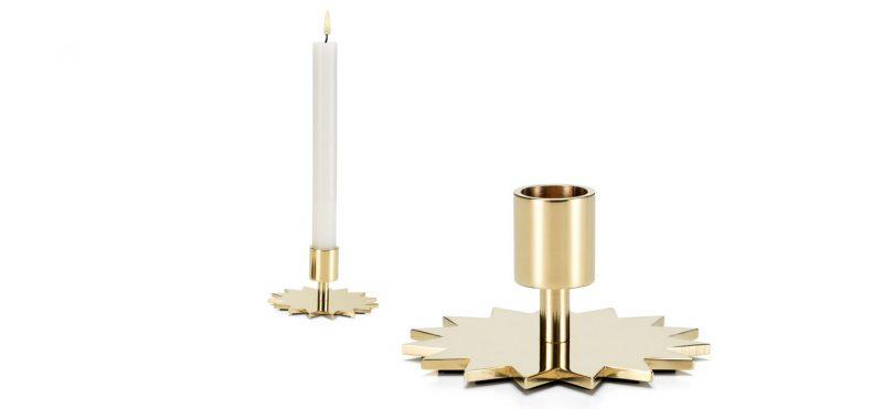 Candelabros dorados Star Vitra. Adornos de Navidad Originales