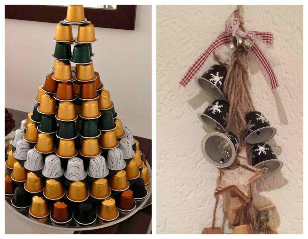 adornos de navidad originales con capsulas de nespresso