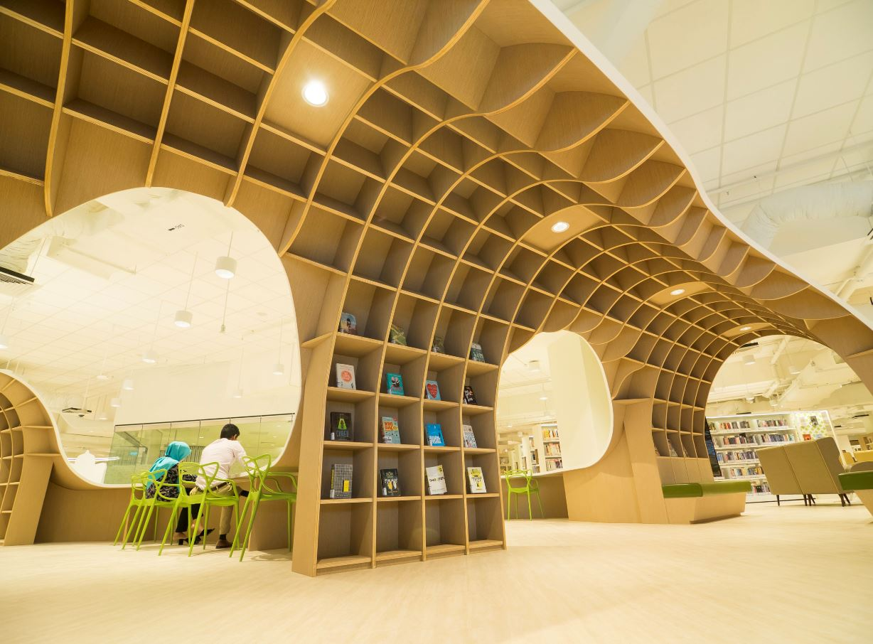 Bedok Public Library by ONG&ONG Photo credit: ONG&ONG and National Library Board
