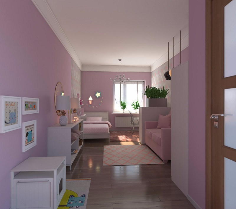 bibliotecas 3d de muebles. Glancing eye.com. Dormitorio infantil