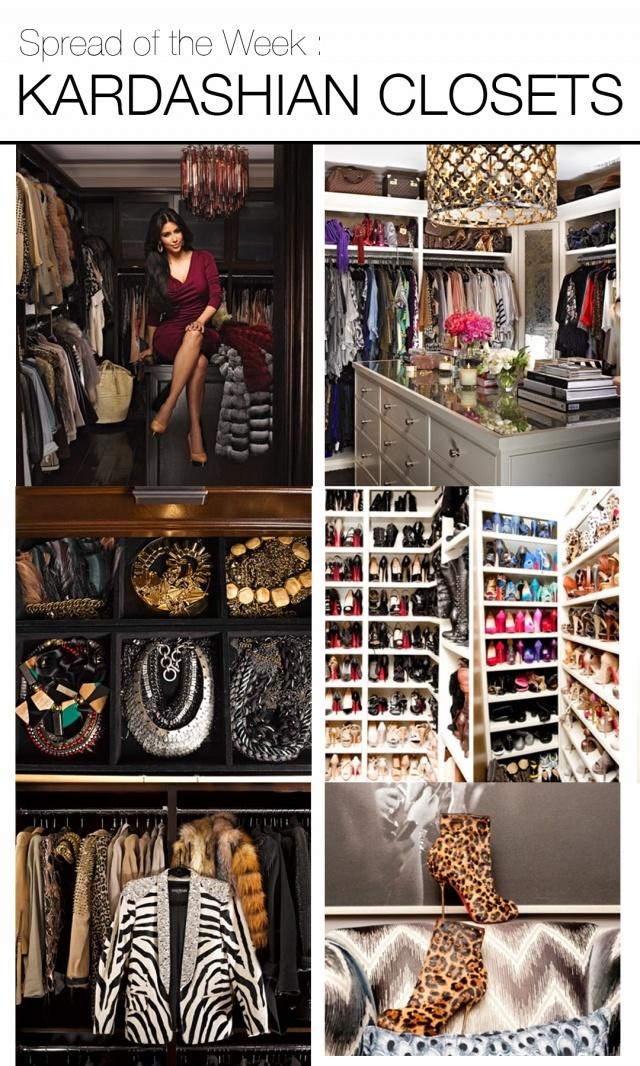 Organiza un vestidor a tu medida.. Vestidor de Kim Kardashian