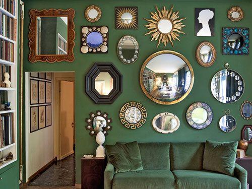 Espejos vintage . Decoración con espejos