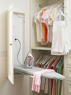 Organiza un vestidor a tu medida. Mueble plancha