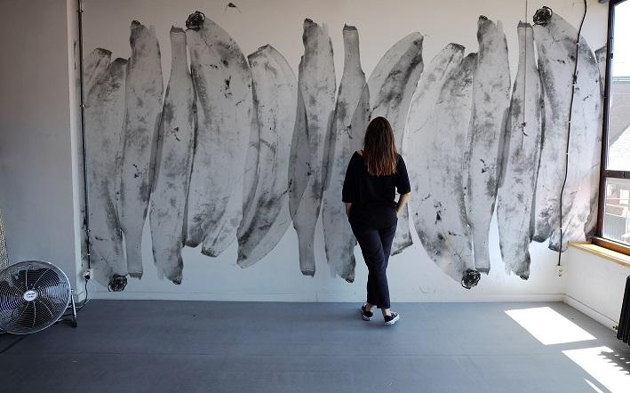 casa decor. arte abierto. exposición ana-escalera-arte-abierto-casa-decor
