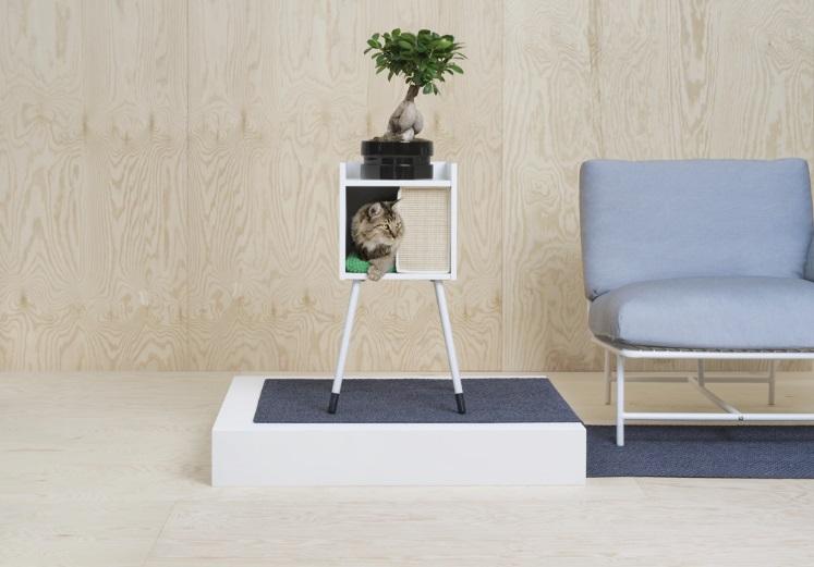 Casa para gatos de Ikea en madera coleccion LUVIG