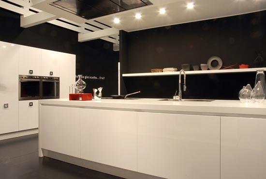 cocina blanca sin tiradores sistema gola