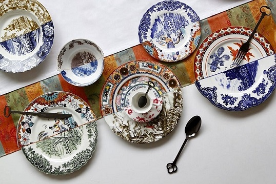 coleccion hybrid seletti porcelana multicolor . Objetos de decoracion para sibaritas