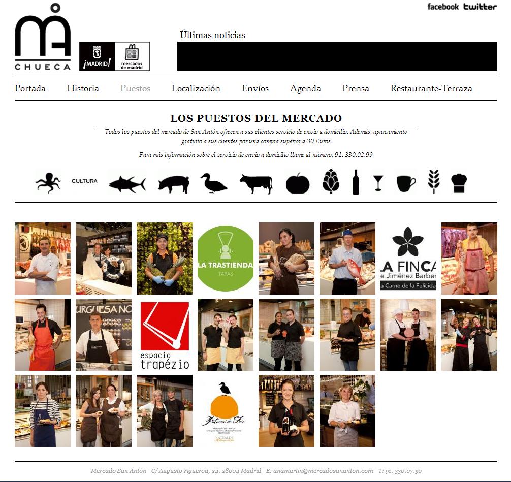 Página web Mercado de San Antón.