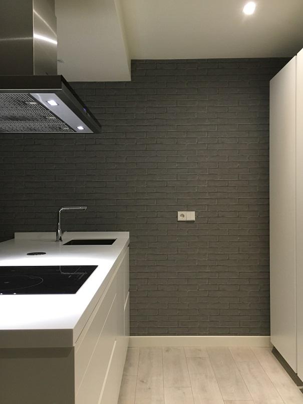 como reformar la cocina paso a paso. . papel pintado en pared de cocina. mara pardo estudio