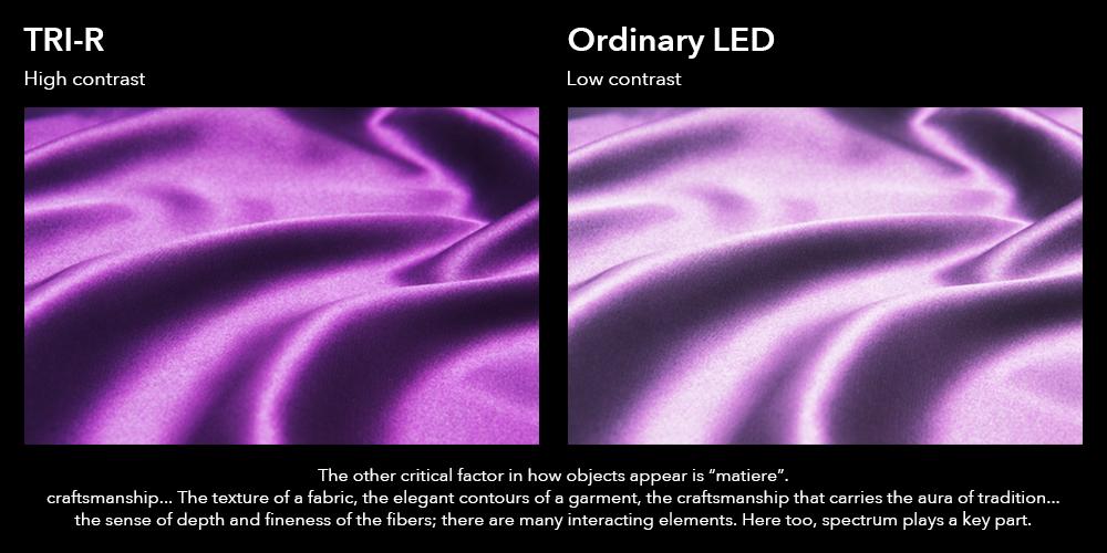 contraste entre led normal y sunlike tri r