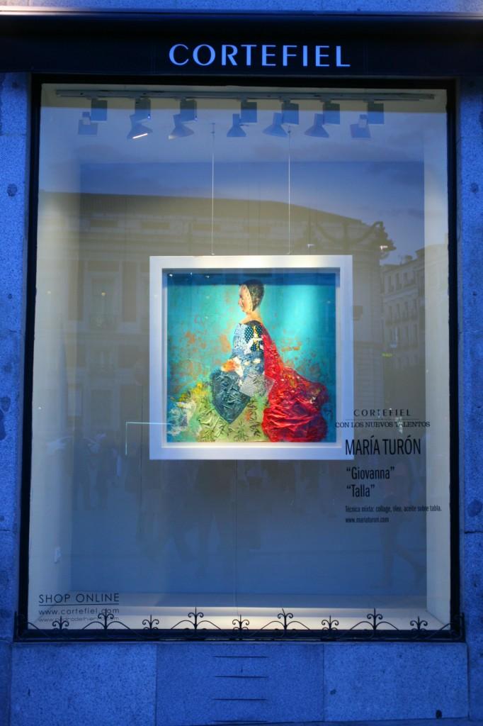 Cortefiel cede sus escaparates al arte. Julio 2013