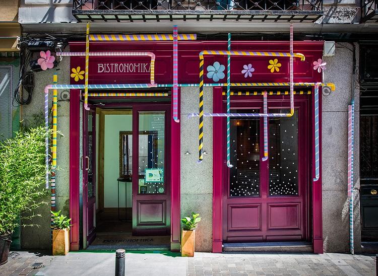 decoraccion 2017 fachada Barrio de las Letras bistronomika
