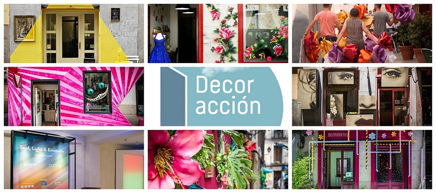 decoraccion 2018 fachadas barrio de las Letras Madrid