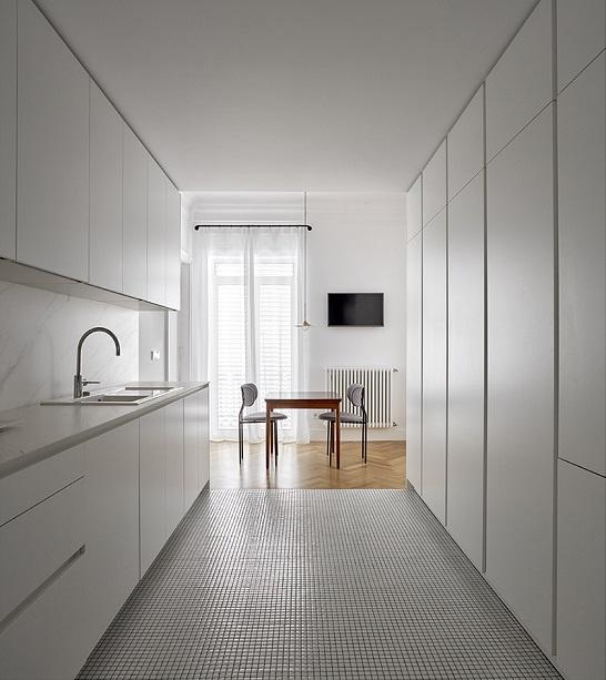 dg arquitecto valencia - reforma de oficina a vivienda . Cocina