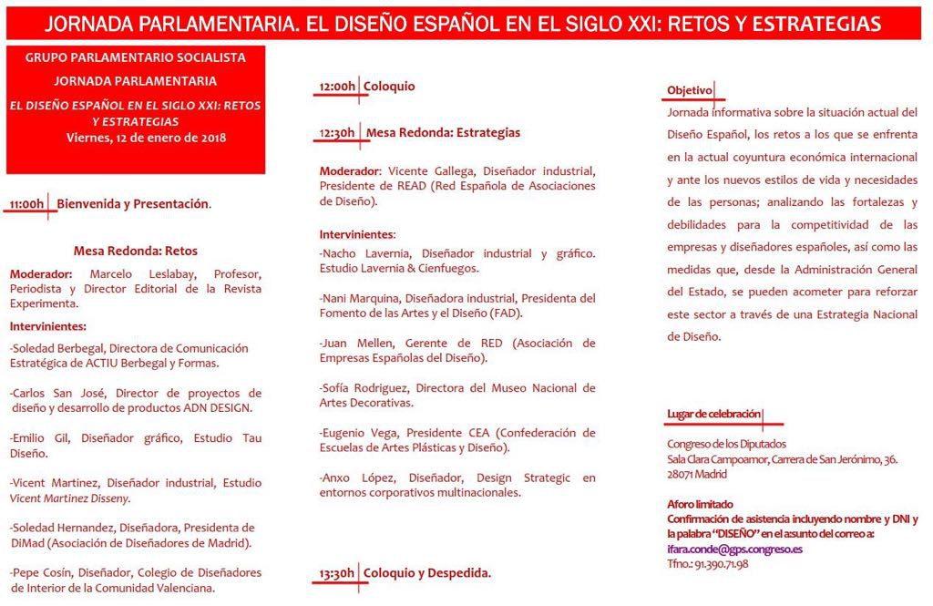 diseño español en el Congreso de los Diputados