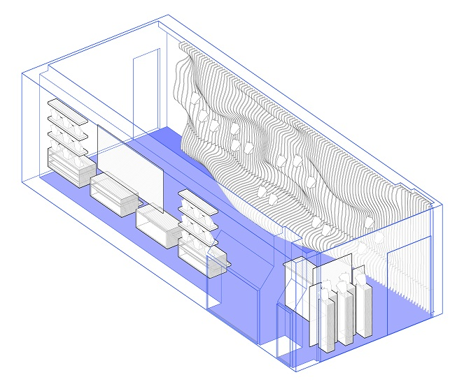 diseño parametrico y cnc de Mimetica para tienda Eva Kay