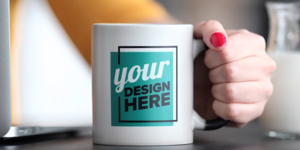 diseñar tazas printful dropshipping