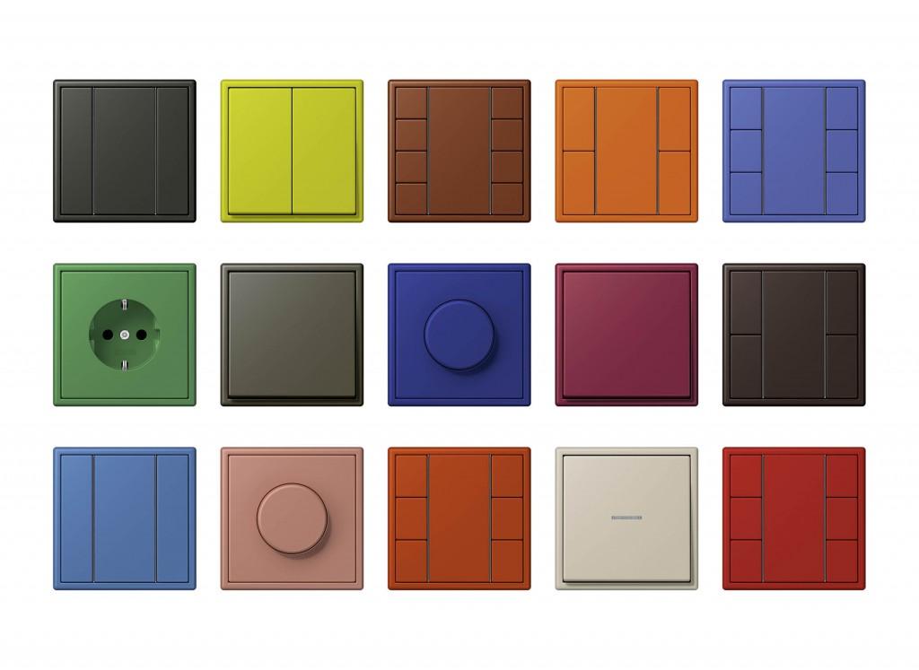 JUNG gama colores jung le corbusier  JUNG Y LE CORBUSIER . Mecanismos LS 990 Jung colores Le Corbusier