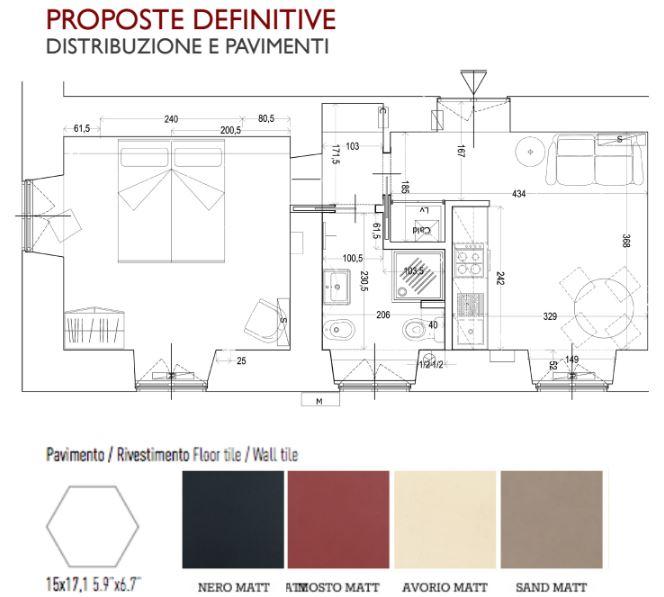 francesca bertuglia architetto Roma- propuestas reforma antes y despues . Reforma de apartamento en Roma