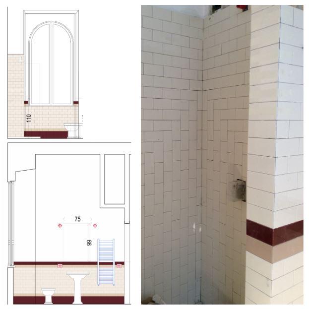 francesca bertuglia architetto Roma-reforma colocación azulejos. Reforma de apartamento en Roma