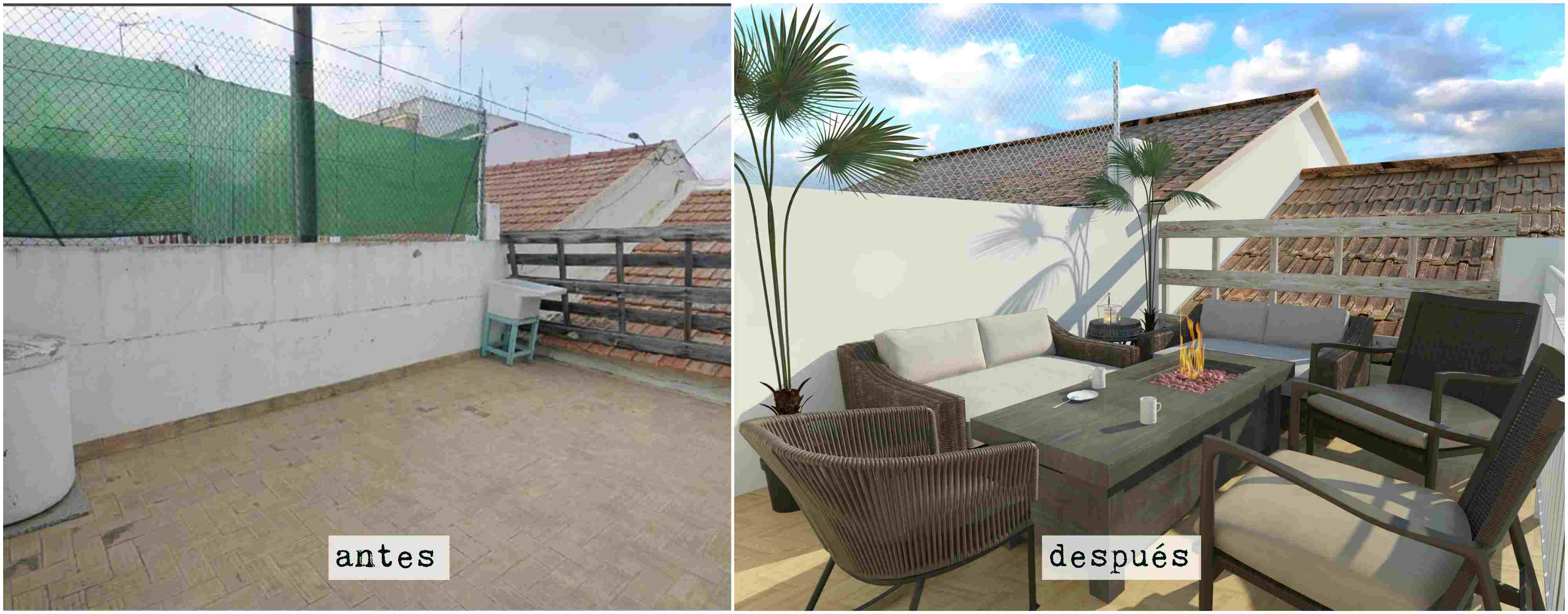 glancing eye. contratacion imagenes en 3d y renders antes y después terraza