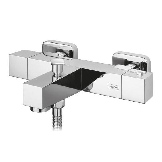 griferia termostatica de bañera buades cuadrada. Como instalar una columna de ducha termostatica sin obras