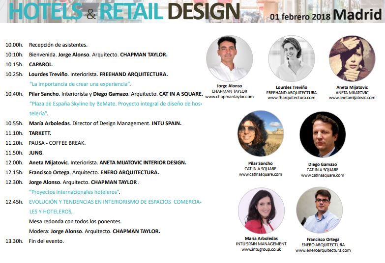 Ponentes grupo Via charla Hotels & Retail Design