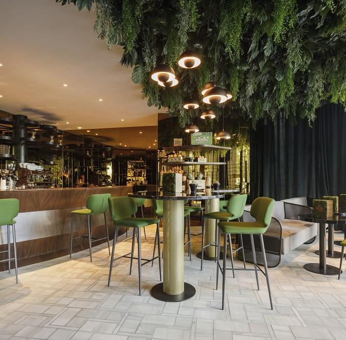 Cafetería wild Food hotel marquis issabel granada diseño ilmiodesign estudio interiorismo