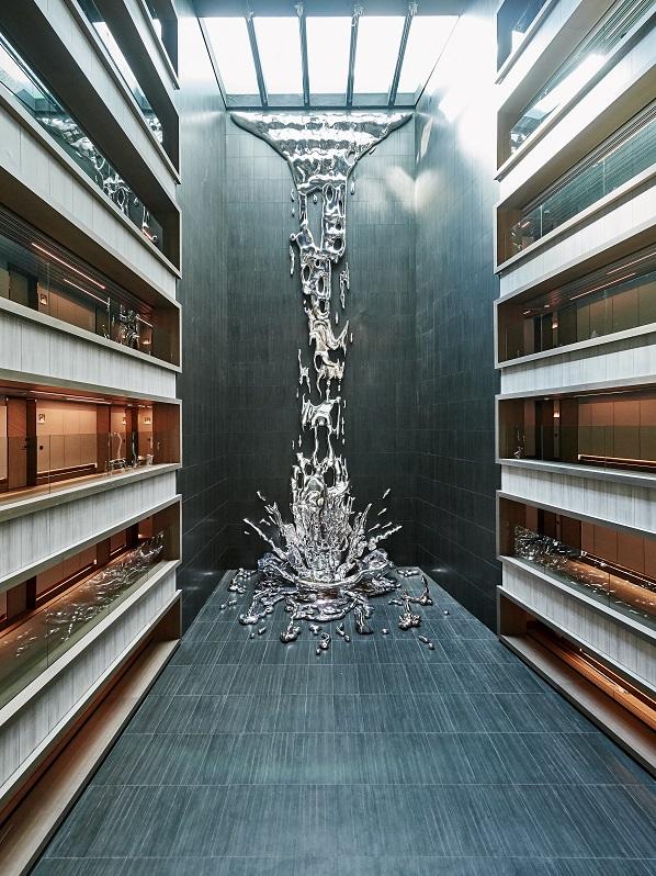 hotel VP Plaza Espana Design proyecto Cuarto interior fotos D Schaefer Cascada interior